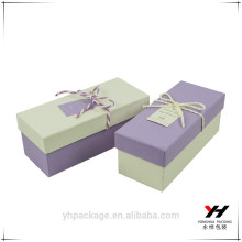 Customized high quality oblong box gift paper